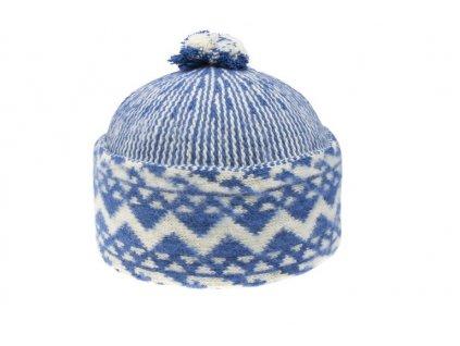 Triton 011 000013 cepice pletena vlnena zmijovka modra 2