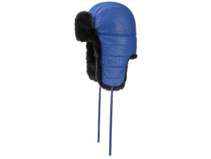 Nepromokavá ušanka/beranice od Stetson, umělá kožešina- Bomber Cap Glass Fiber
