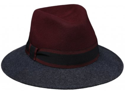 Dvoubarevný dámský klobouk Fedora