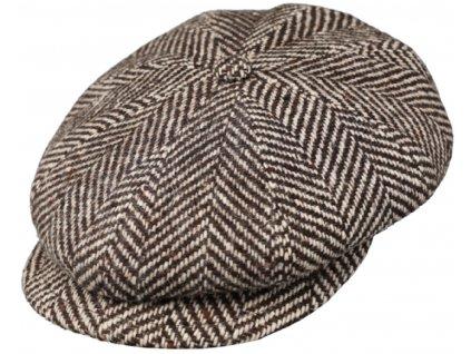 Bekovka Hatteras od Fiebig 42283 - Vlna / 8-Panel Cap Fischgraet Bakerboy Herringbone