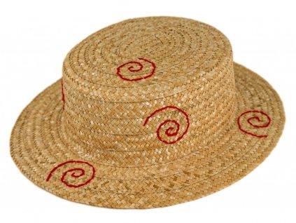 5154 letni slameny vysivany vzor boater klobouk zirardak carlsbad hat co nova kolekce.png