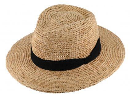 Fedora Raffia - slaměný béžový klobouk - Bestseller