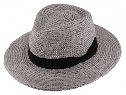 sedy klobouk fedora