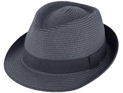 Nemačkavý letní modrý klobouk Trilby od Fiebig