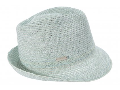 Dámský extra lehký klobouk Trilby - světlemodrý