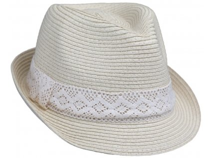 Dámský letní klobouk Trilby od Fiebig béžový