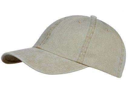 Béžová kšiltovka z seprané bavlny Baseball Cap Washed Cotton
