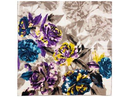 30708 hedvabny satek modre ruze