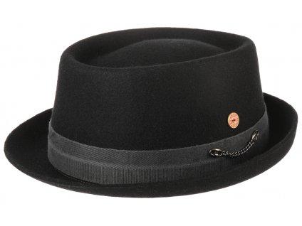 Plstěný klobouk porkpie - Mayser - černý klobouk Gareth