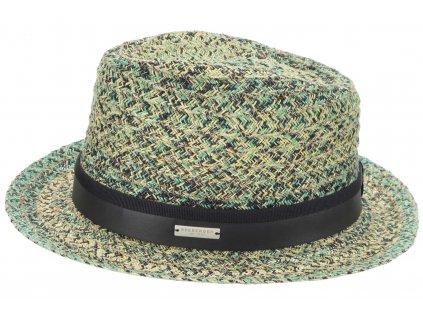 Letní klobouk Trilby Toyo - sláma a bavlna - Seeberger