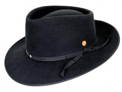 Černý klobouk Mayser - limitovaná kolekce Udo Lindenberg