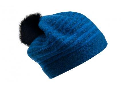 Vlněný baret Froderian Tonak outlet modrý - pruhovaný