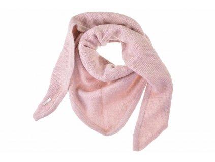 Dámská růžová zimní šála - šátek od Seeberger - kolekce Lelica