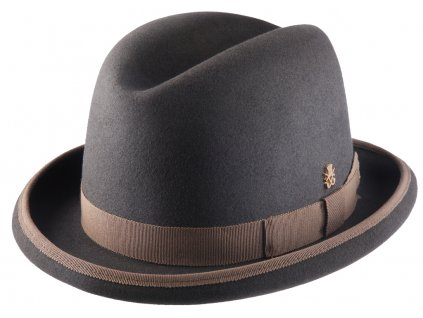 Hnědý pánský homburg - klobouk Mayser Homburg - limitovaná kolekce