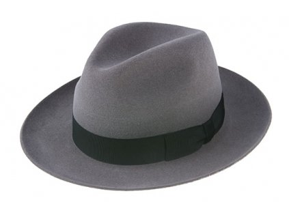Luxusní plstěný klobouk - Fedora Tonak 11580/13 - šedá barva