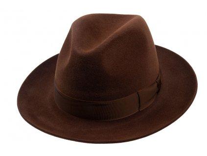 Luxusní plstěný klobouk - Fedora Tonak 11580/13 - hnědá barva