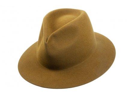 Khaki plstěný klobouk  z měkké plsti - Tonak 11507/13