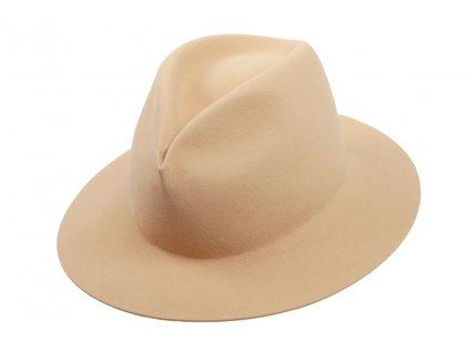 Béžový plstěný klobouk  z měkké plsti - Tonak 11507/13