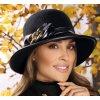 Dámský černý vlněný klobouček - Niltira