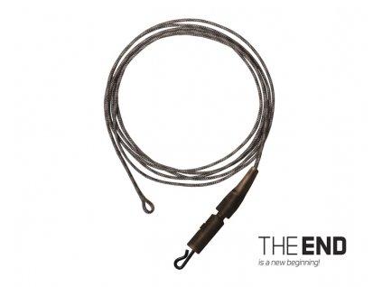 Návazec THE END Leadcore + PIN clip / 3ks