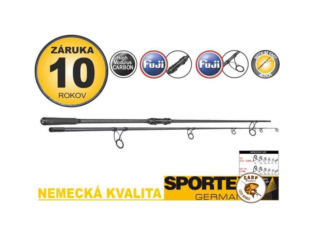 Kaprové pruty Sportex Impressive Carp 2-díl