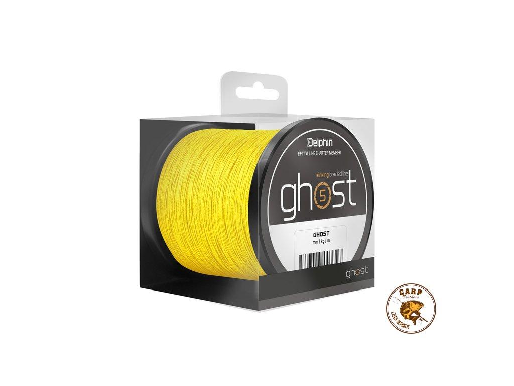 Delphin GHOST 4+1 / žlutá (Varianta 0,33mm 40lbs 600m)