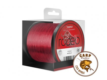 Delphin RODEO / červený (Varianta 0,35mm 23lbs 17800m)