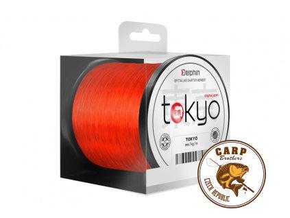 Monofil Delphin TOKYO oranžový (Varianta 0,369mm 22lbs 4600m)