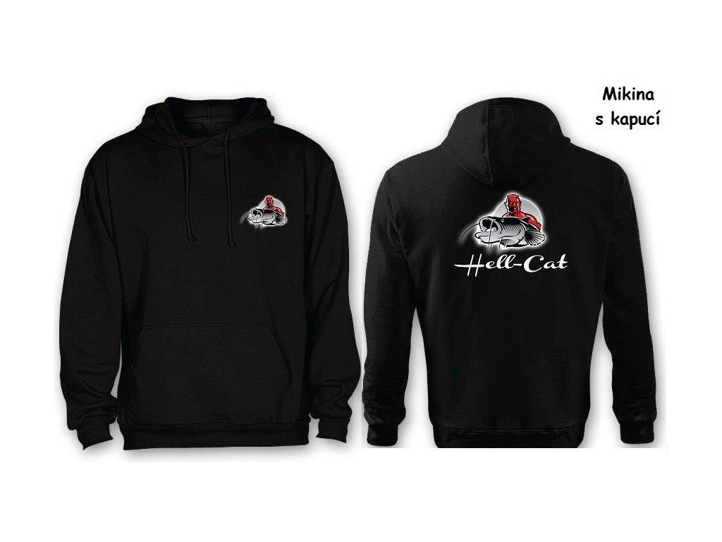 Mikina Hell-Cat klokánek s kapucí černá, vel.L