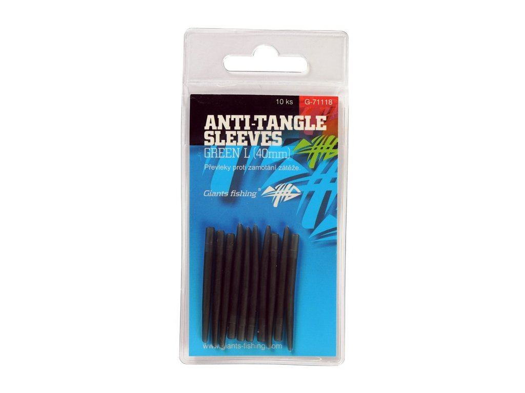 21741 prevleky proti zamotani anti tangle sleeves green l 10ks 40mm