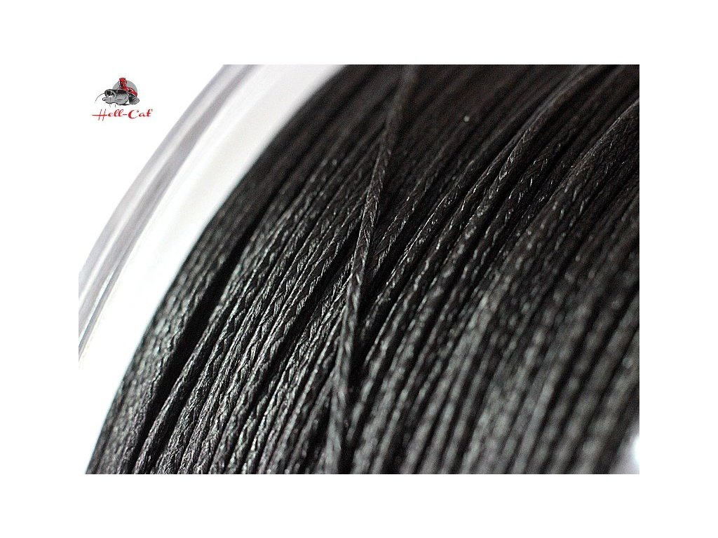 Splétaná šňůra Round Braid Power Black 0,50mm, 57,50kg, 1000m