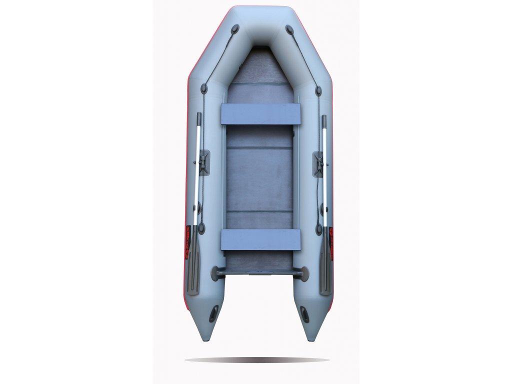 Nafukovací čluny Elling - Forsag 330 s pevnou skládací podlahou, šedý