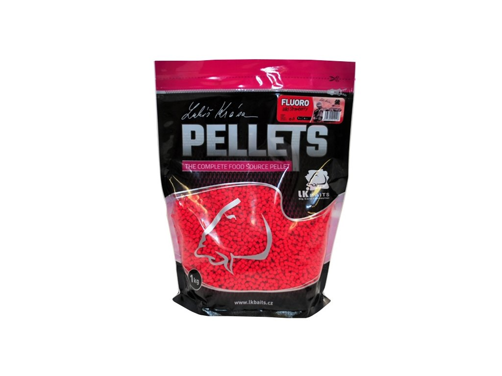 pelety lk baits fluoro pellets wild strawberry 1kg original