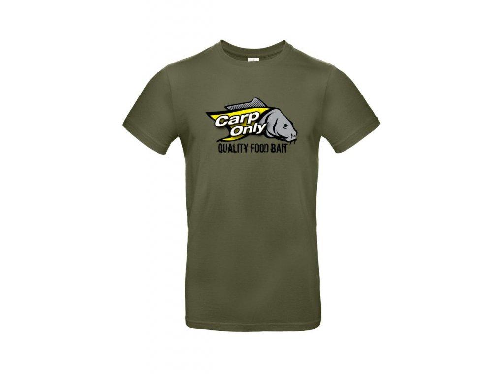 Tričko s krátkým rukávem CARP ONLY Exact Khaki