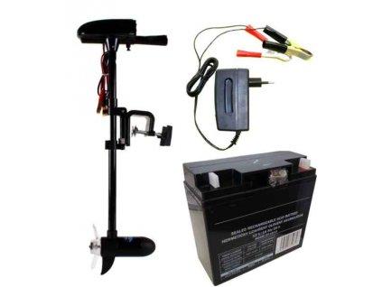 Set: Engine 18lb + akumulátor 17Ah / 12V + nabíječka