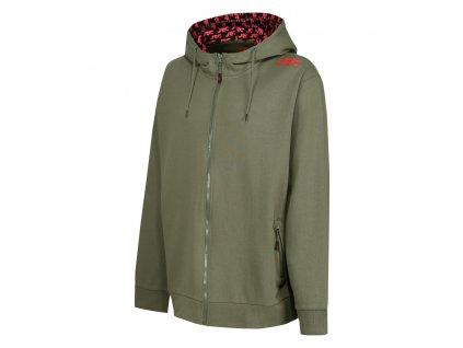 Mikina s kapucí na zip JRC Zipped Hoody Green