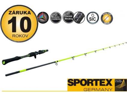 Přívlačový prut Sportex STYX - T - dvoudílný