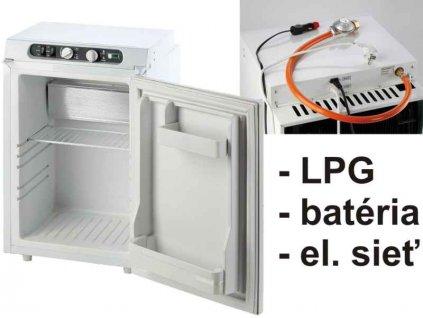 Absorpční lednice 62l- 490 x 485 x 655 mm