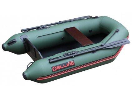 Nafukovací čluny Elling - T240 široký s pevnou skládací podlahou, zelený
