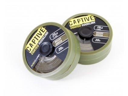 Captive Coated Hooklink - Weedy Green