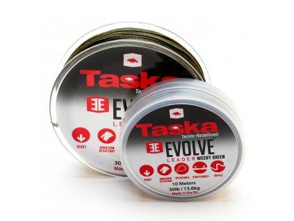 Taska Evolve - Evolve šokový návazec nad montáž hnědý 20m 30lb