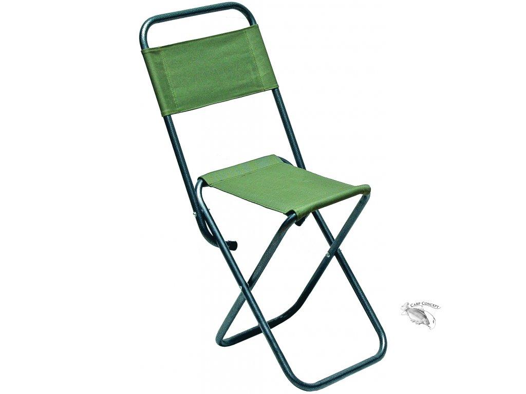 055505 židlička s opěrkou zelená