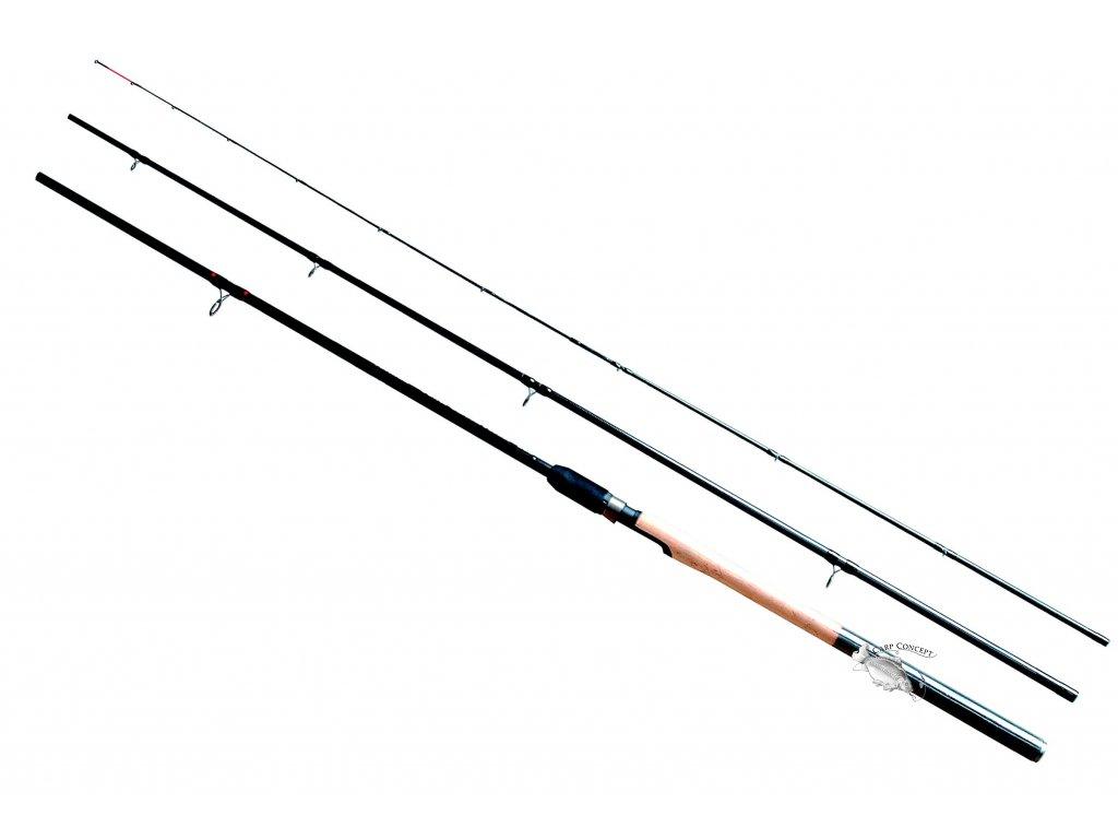 JSA fish prut Power Carbon Feeder 3,60m 30-100g  + neoprénové pásky ZDARMA