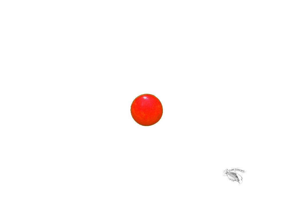 011054 fluo korálky červený