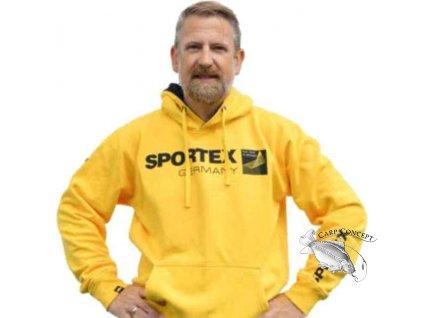 SPORTEX Mikina s kapucí - žlutá (Velikost M)