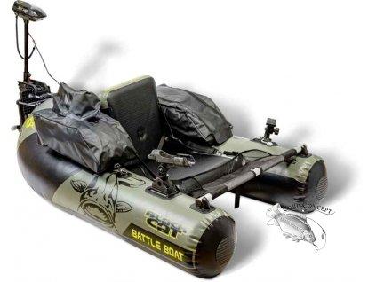 Black Cat Battle Boat sada + závěsný elektromotor BC2400