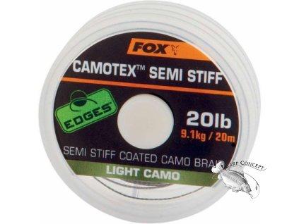 Screenshot 2020 12 04 Fox Návazcová šňůrka Camotex Light Semi Stiff 20lb 20 m vs
