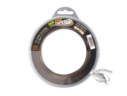 Fox Ujímané šokové návazce Edges Soft Tapered Leaders Trans Khaki 12-30lb 0,33-0,50mm
