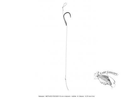 Screenshot 2021 05 13 Návazec METHOD FEEDER 10 cm s vlasem – háček 8 Vlasec 0 25 mm 8 ks HMFB12W 8 MIKADO(1)