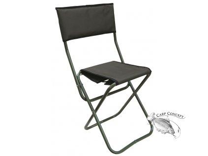Elektrostatyk skládací židle WP-5 s opěradlem - Zelená